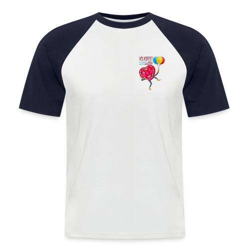 Herz blinzelnd - Männer Baseball-T-Shirt
