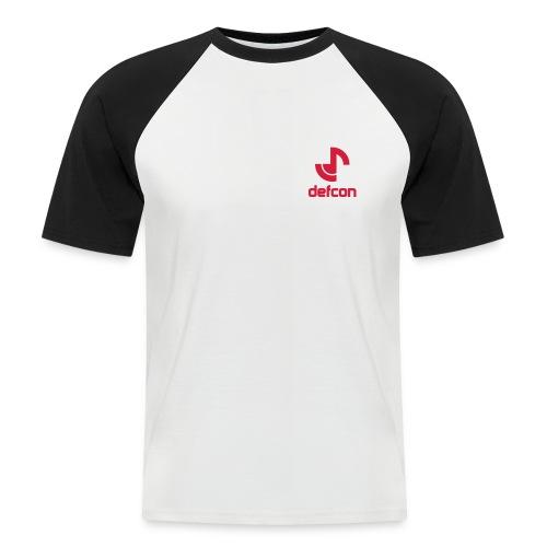 defcon logo and text vector2 - Men's Baseball T-Shirt