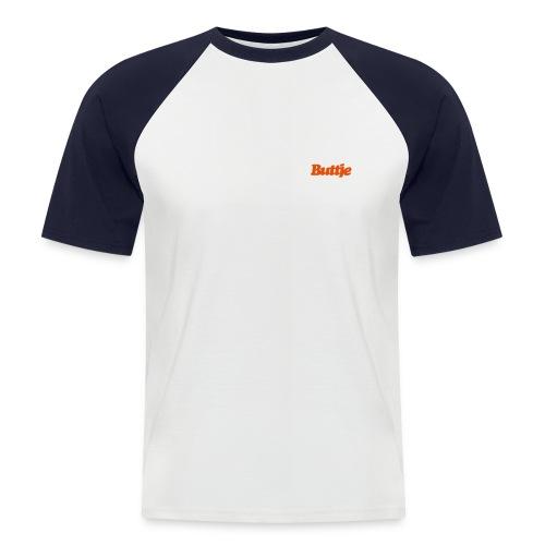 Contrast-T-Shirt Buttje weiss/navy - Männer Baseball-T-Shirt