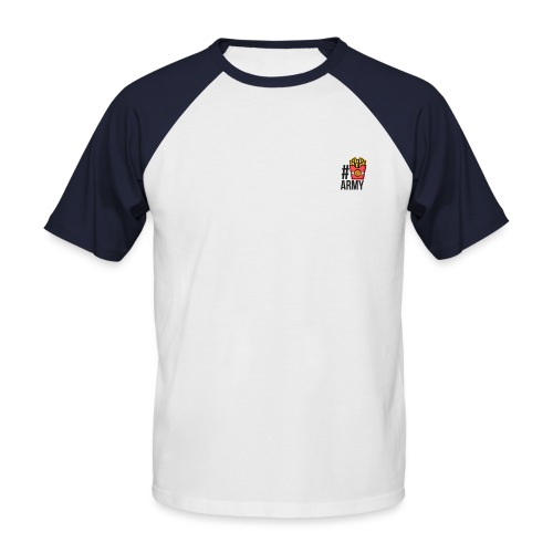 #POMMES-Army Design - Männer Baseball-T-Shirt