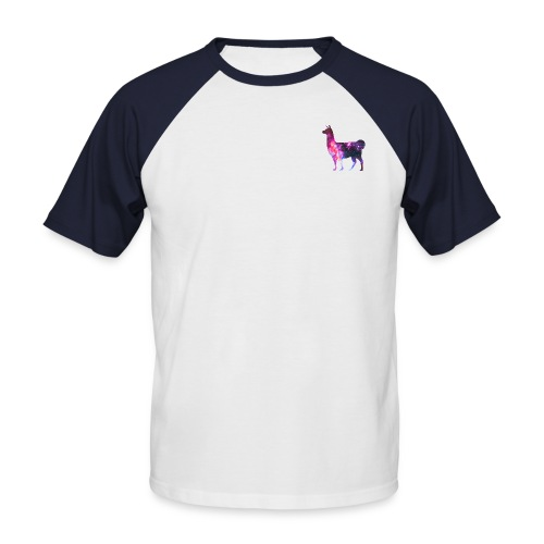 The Llama from Outer Space - Kortærmet herre-baseballshirt