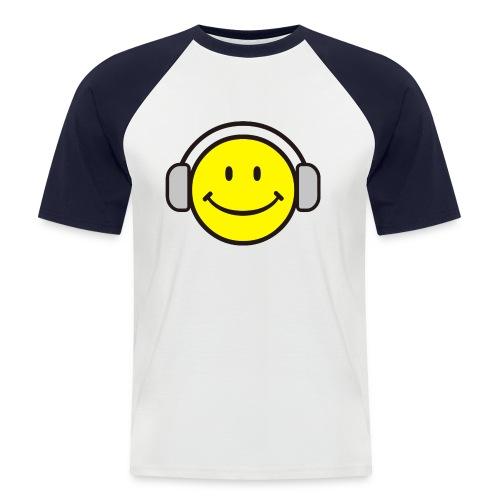 tshirt dj smiley - Männer Baseball-T-Shirt