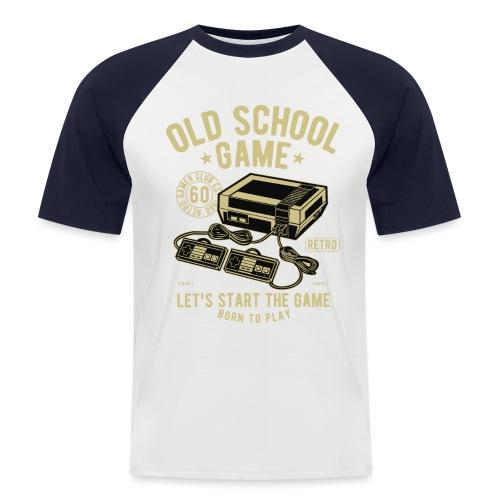 T-Shirt Jeux videos Vintage - T-shirt baseball manches courtes Homme