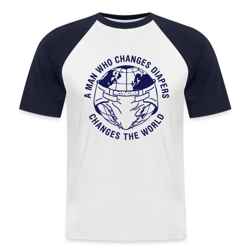 diaperchange2 - Mannen baseballshirt korte mouw