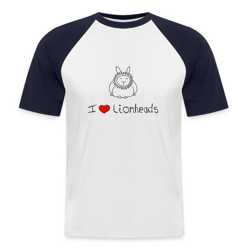 I Love Lionheads - Men's Baseball T-Shirt
