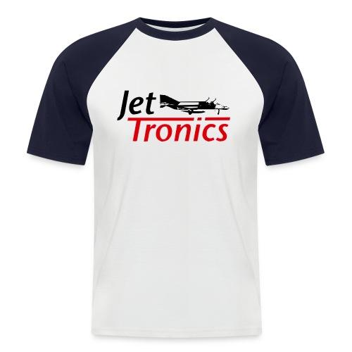 jetlogoa3kopiezumbearbeitenswrspreadshir - Männer Baseball-T-Shirt