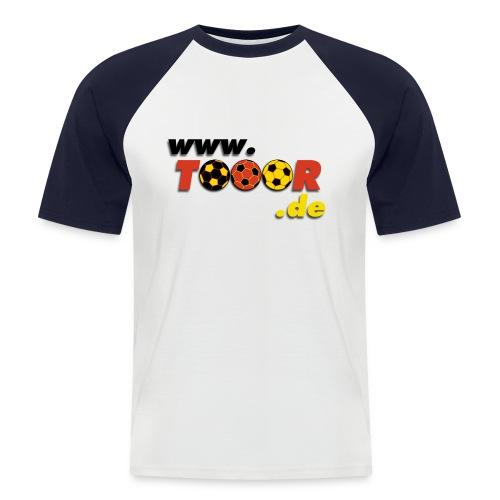 tooor logo - Männer Baseball-T-Shirt