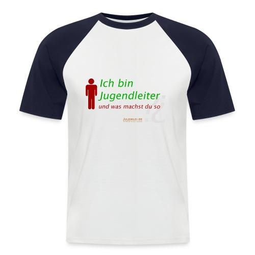 ich bin jugendleiter und was machst du s - Männer Baseball-T-Shirt