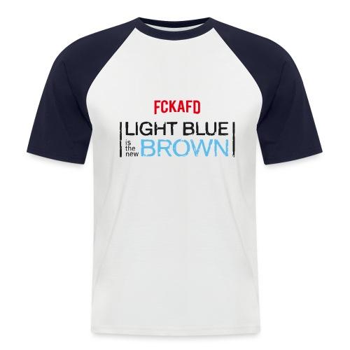 LIGHT BLUE IS THE NEW BROWN - Männer Baseball-T-Shirt