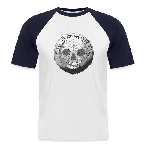Rigormortiz Black and White Design - Men's Baseball T-Shirt