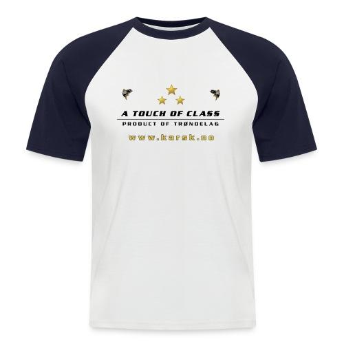 tskjorte01 - Kortermet baseball skjorte for menn