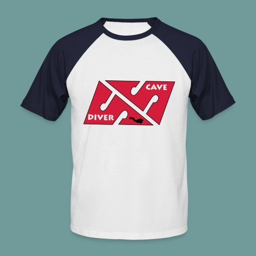 cave_diver_01 - T-shirt baseball manches courtes Homme