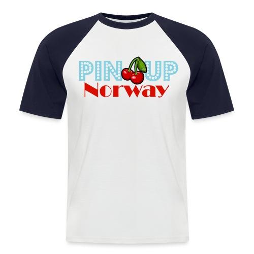 Pinup Norway Fan Club - Kortermet baseball skjorte for menn