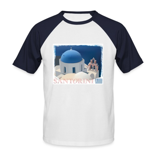 Beautiful Santorini - Men's Baseball T-Shirt