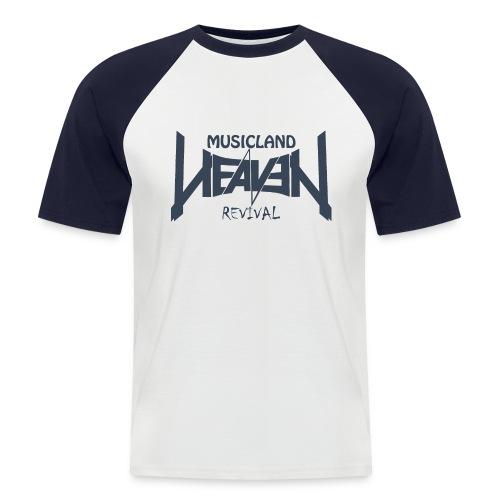 t shirt navy weiss gif - Männer Baseball-T-Shirt