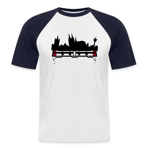 koeln 2011 v2 whiteshirt4 - Männer Baseball-T-Shirt