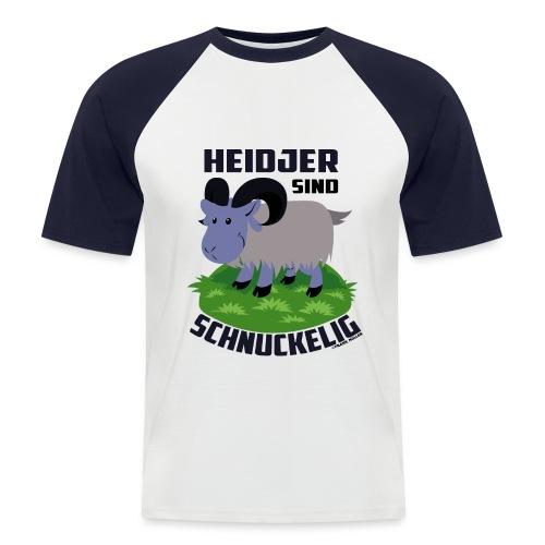 Heidschnucke Fiete - Männer Baseball-T-Shirt