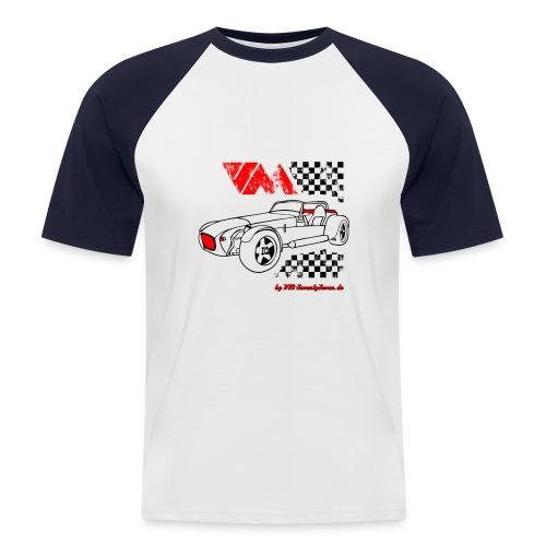 77 vm schwarz - Männer Baseball-T-Shirt