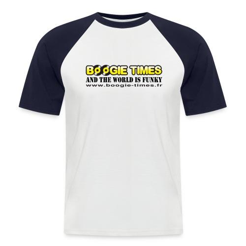 WORLD IS FUNKY ts white - Men's Baseball T-Shirt