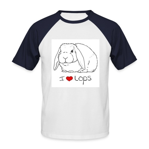 I Love Lops 2 - Men's Baseball T-Shirt