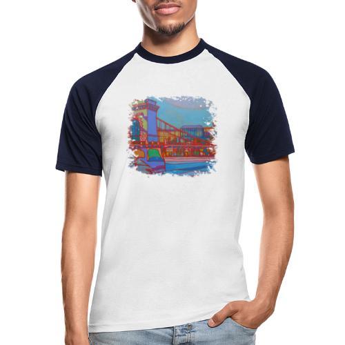 Budapest - Männer Baseball-T-Shirt