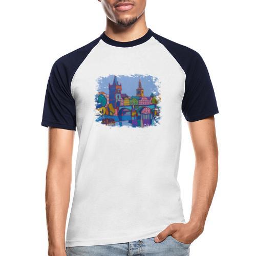 Prag - Männer Baseball-T-Shirt