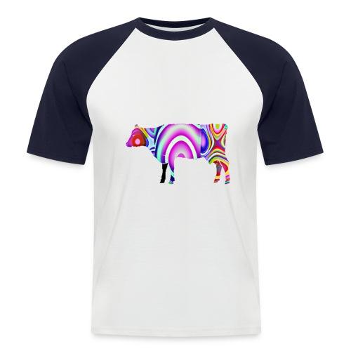 La vache - T-shirt baseball manches courtes Homme