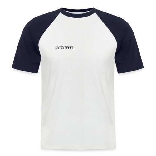 Klientplatforme AD Gruppen png - Kortærmet herre-baseballshirt