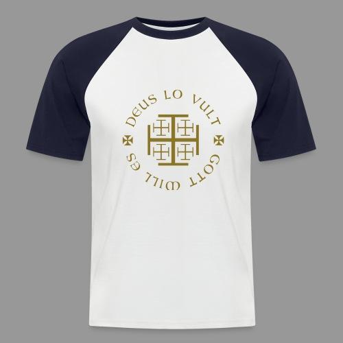 deus lo vult - Gott will es - Männer Baseball-T-Shirt
