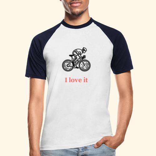I love my bicycle - Koszulka bejsbolowa męska