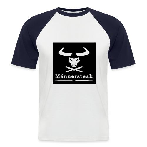 Männersteak schwarz weiss - Männer Baseball-T-Shirt