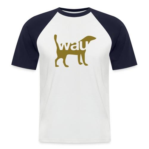 Wau einfarbig - Flex/Flock - Männer Baseball-T-Shirt