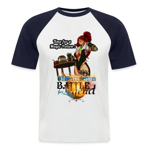Mythrilisatrice- Battle for Legend X 01Musculation - T-shirt baseball manches courtes Homme
