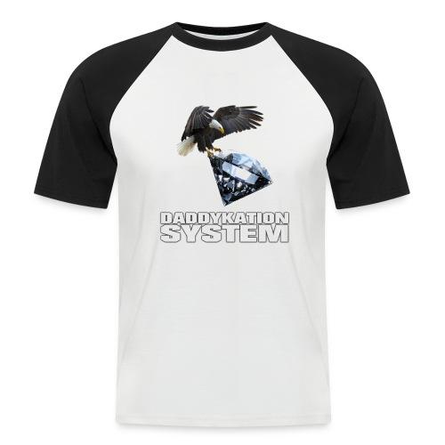 DADDYKATION SYSTEM // LOGO - Männer Baseball-T-Shirt