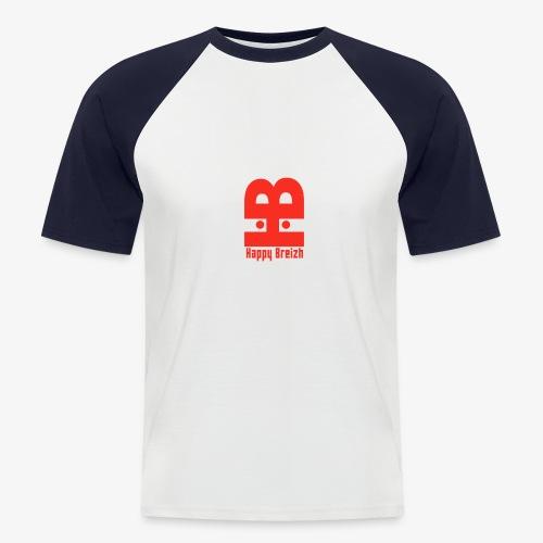 happy breizh logo - T-shirt baseball manches courtes Homme