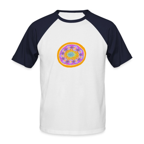 Mandala Pizza - Men's Baseball T-Shirt