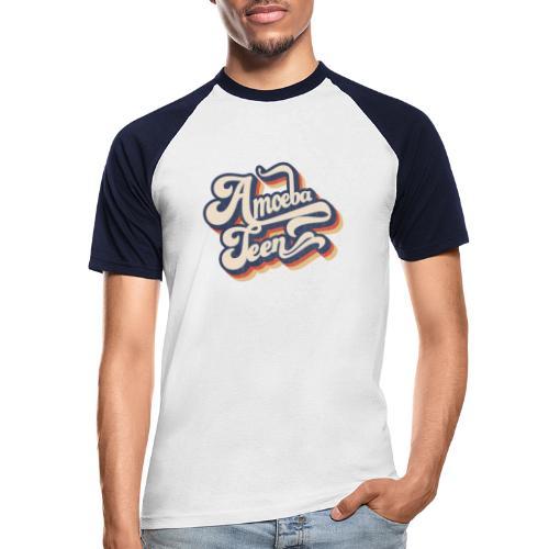 Amoeba Teen 3D Swirl Logo - Men's Baseball T-Shirt