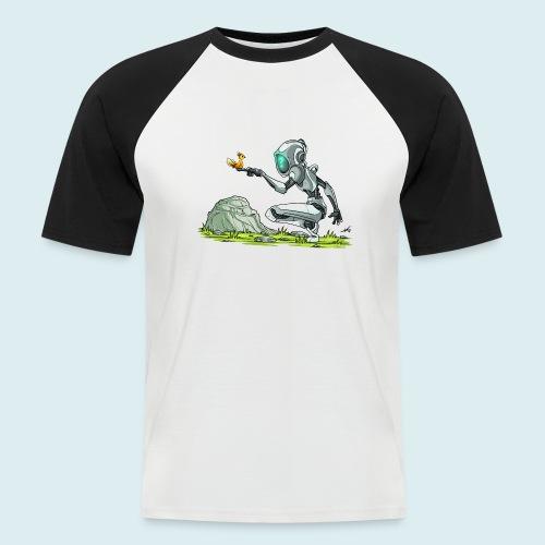 funny robot - Maglia da baseball a manica corta da uomo