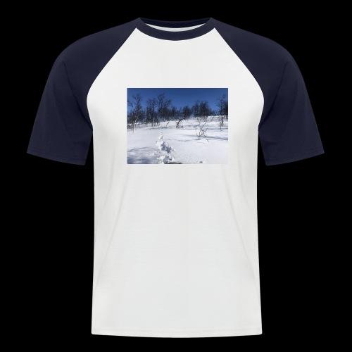 Fin natur - Kortermet baseball skjorte for menn