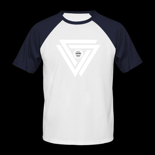 08 logo complet withe - T-shirt baseball manches courtes Homme