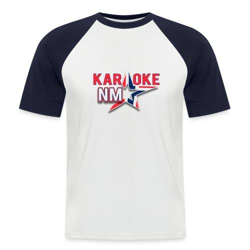 KaraokeNM - Kortermet baseball skjorte for menn