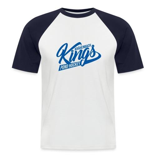 KINGS Logo 2019 einfach blue - Männer Baseball-T-Shirt