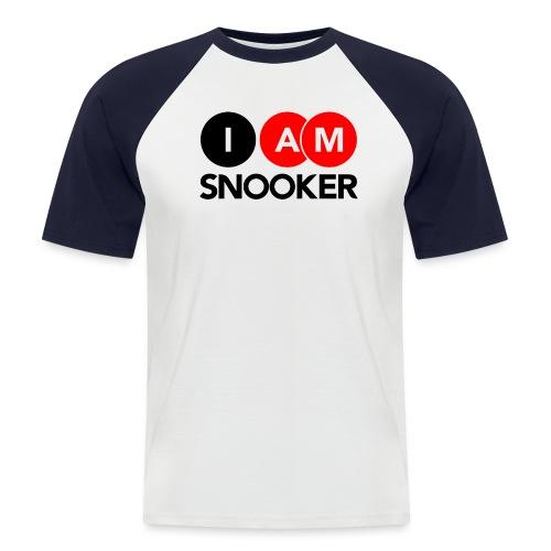 I AM SNOOKER - Men's Baseball T-Shirt