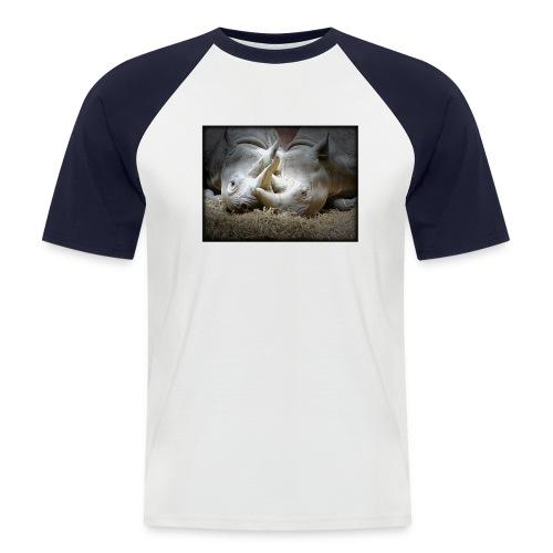 two rhinos in love - Men's Baseball T-Shirt