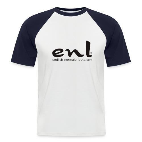 neuesdrucklogo2 - Männer Baseball-T-Shirt