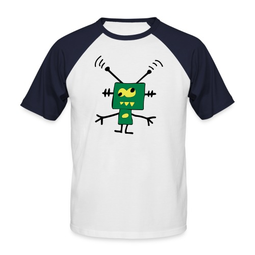robot - Koszulka bejsbolowa męska