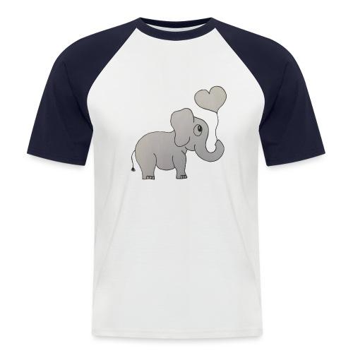 LackyElephant - Männer Baseball-T-Shirt