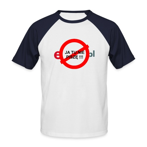 nie pisze - Koszulka bejsbolowa męska