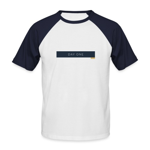 Erster Tag - Männer Baseball-T-Shirt
