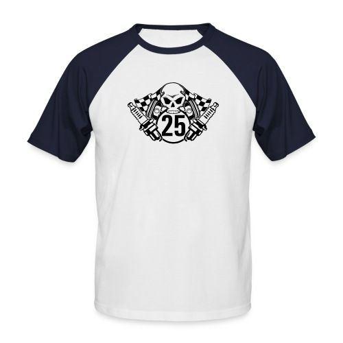 Logo wei schwarz - Männer Baseball-T-Shirt